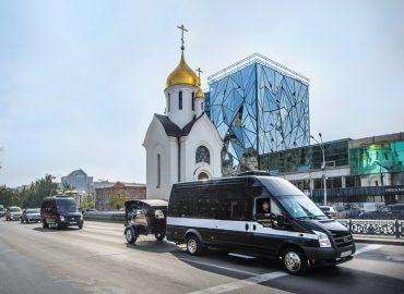 Новый вид похоронного транспорта в Новосибирске