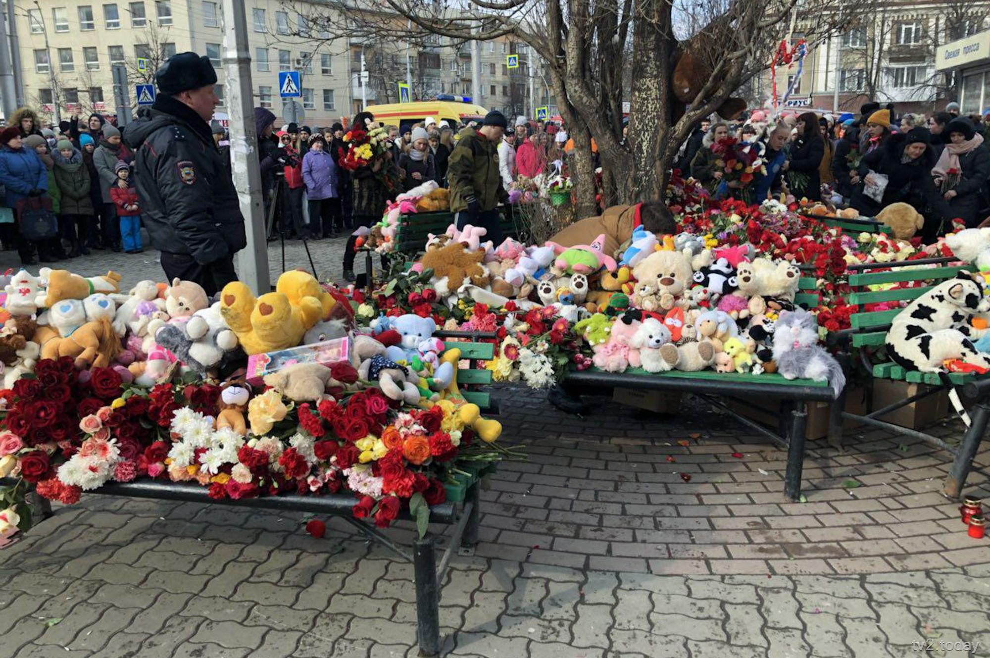 В России начался траур по погибшим в Кемерове