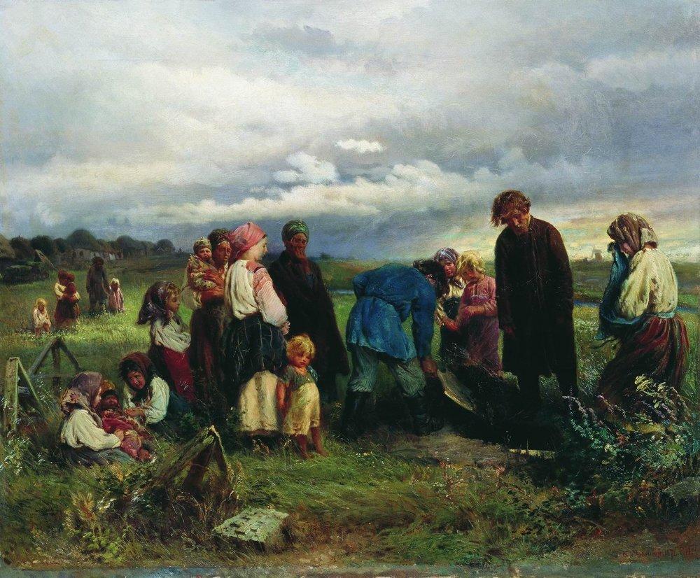 Почему русские бросают горсть земли в могилу при прощании